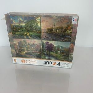 Thomas Kinkade 4 500 piece Jigsaw Puzzles NWOT